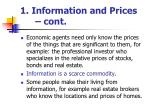 1 information and prices cont