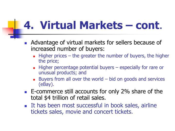4.  Virtual Markets – cont
