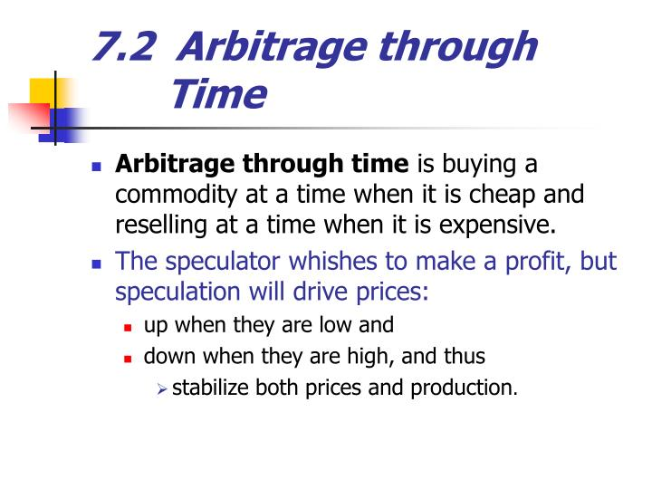 7.2  Arbitrage through               Time