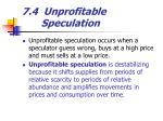 7 4 unprofitable speculation
