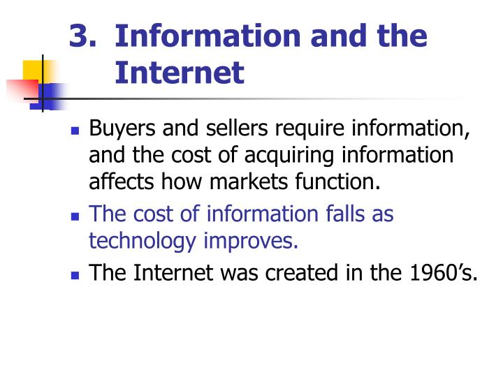 Information and the Internet