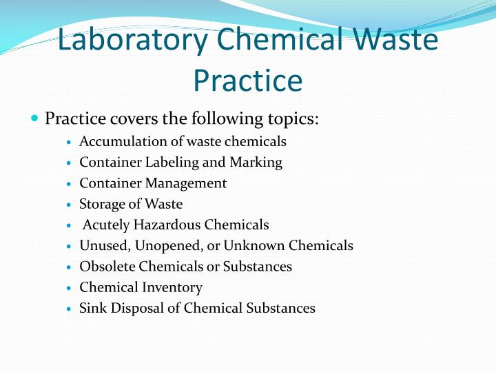 Laboratory Chemical Waste Practice