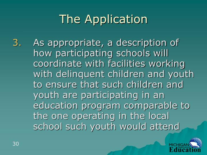 The Application