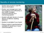 benefits of remote monitoring