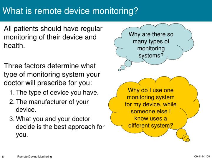 What is remote device monitoring?