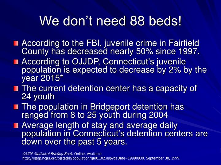 We don't need 88 beds!