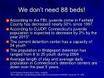 we don t need 88 beds