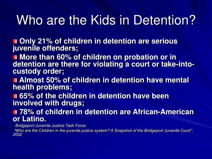 Who are the Kids in Detention?