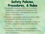 safety policies procedures rules