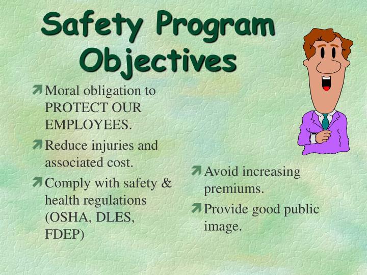 Safety Program Objectives