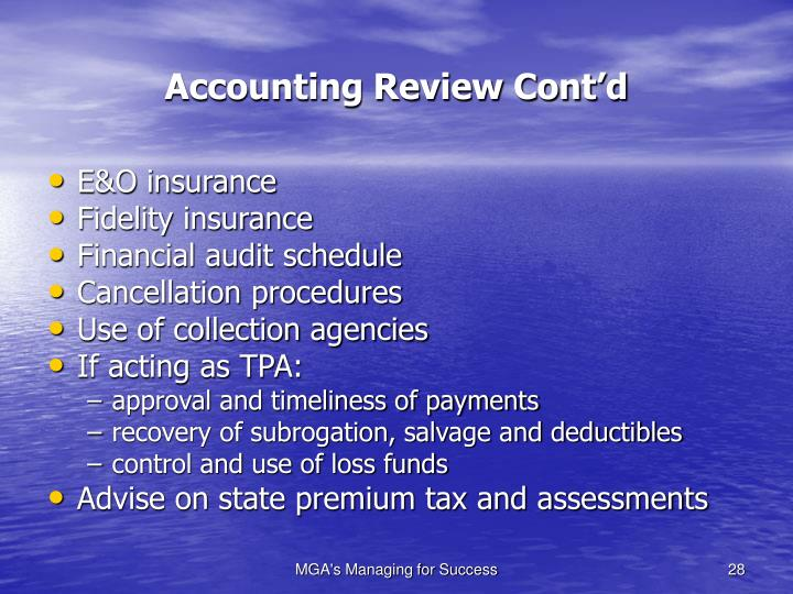 Accounting Review Cont'd