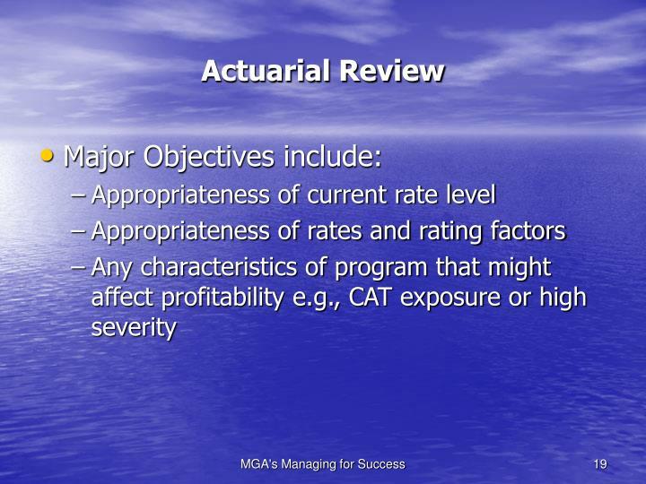 Actuarial Review