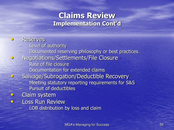 Claims Review