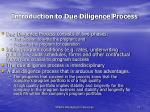 introduction to due diligence process