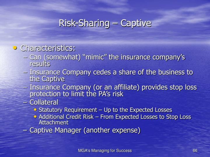 Risk-Sharing – Captive