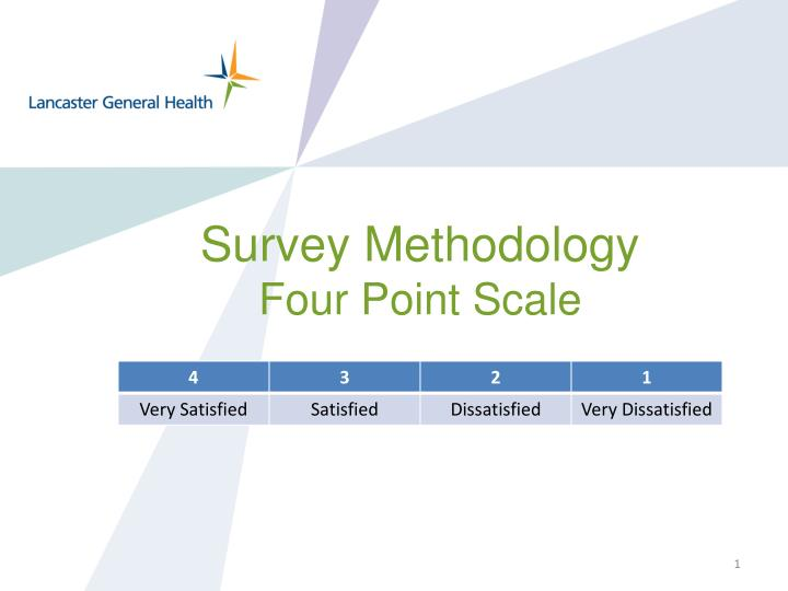 Survey methodology four point scale