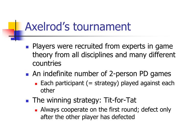 Axelrod's tournament