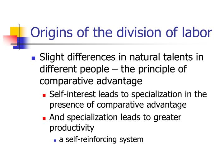 Origins of the division of labor