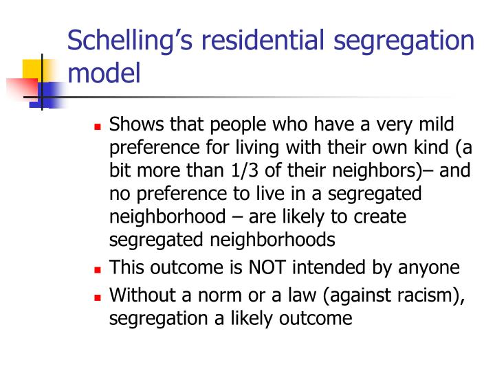 Schelling's residential segregation model