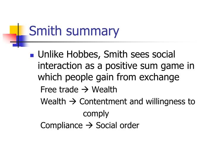 Smith summary