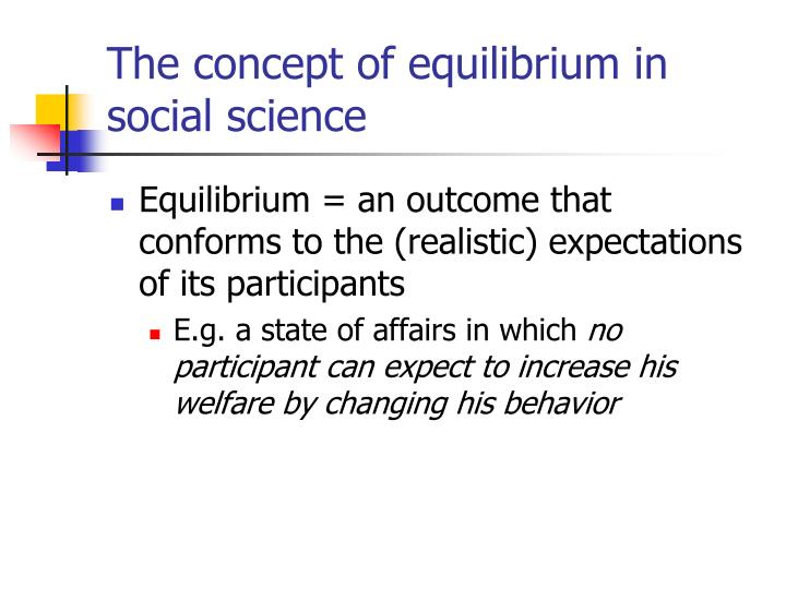 The concept of equilibrium in social science