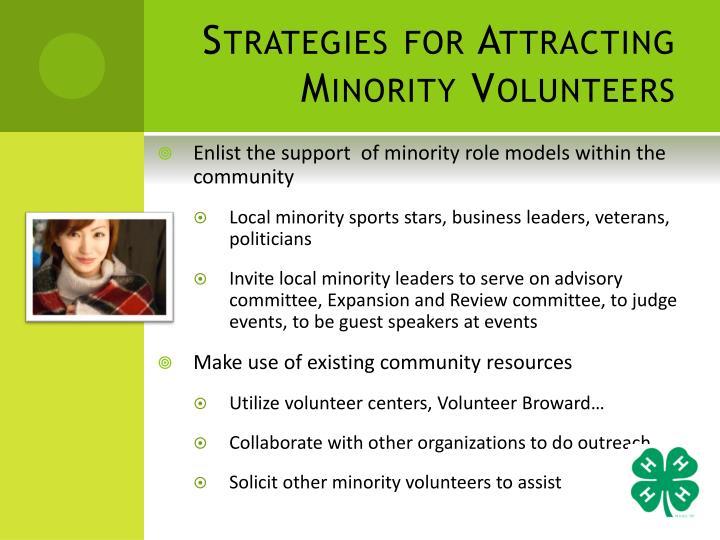 Strategies for Attracting Minority Volunteers