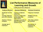 list performance measures of learning and growth2