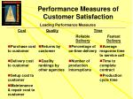 performance measures of customer satisfaction