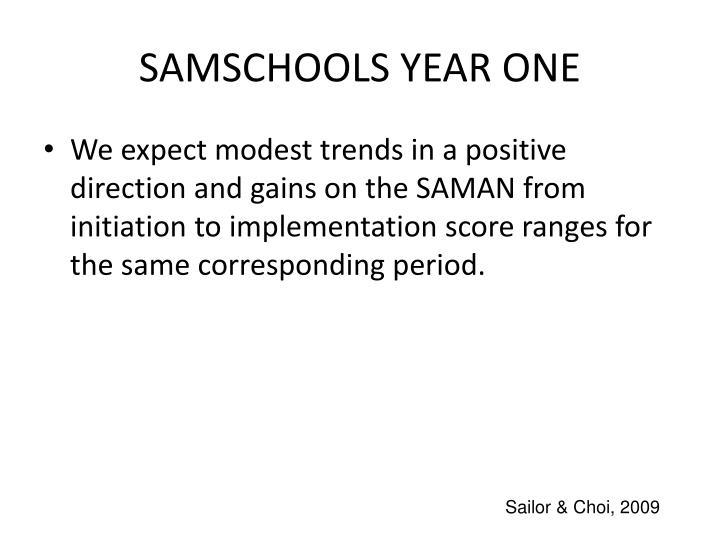 SAMSCHOOLS YEAR ONE