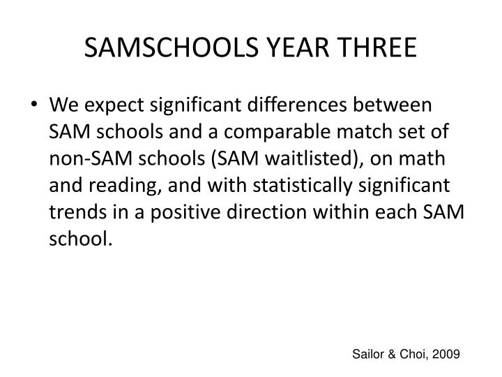 SAMSCHOOLS YEAR THREE