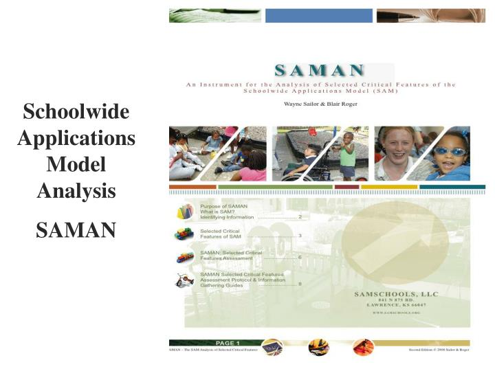 Schoolwide Applications Model Analysis