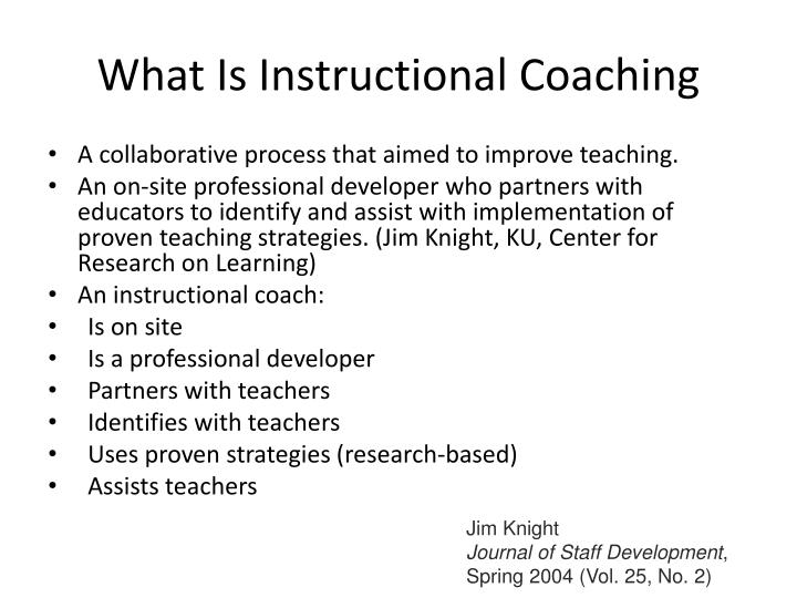What Is Instructional Coaching