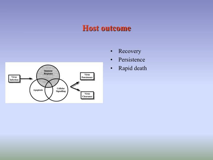 Host outcome