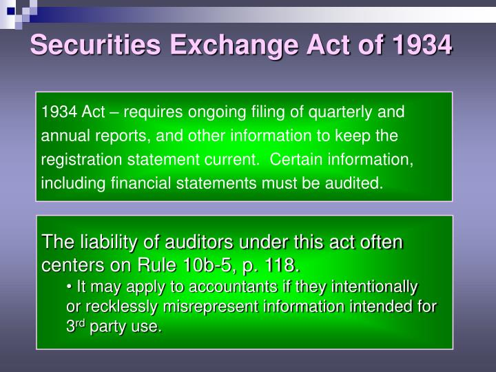 Securities Exchange Act of 1934
