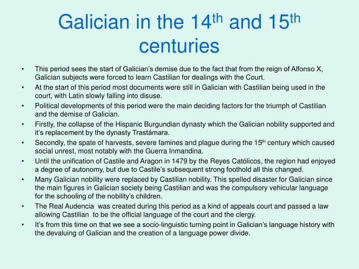 Galician in the 14