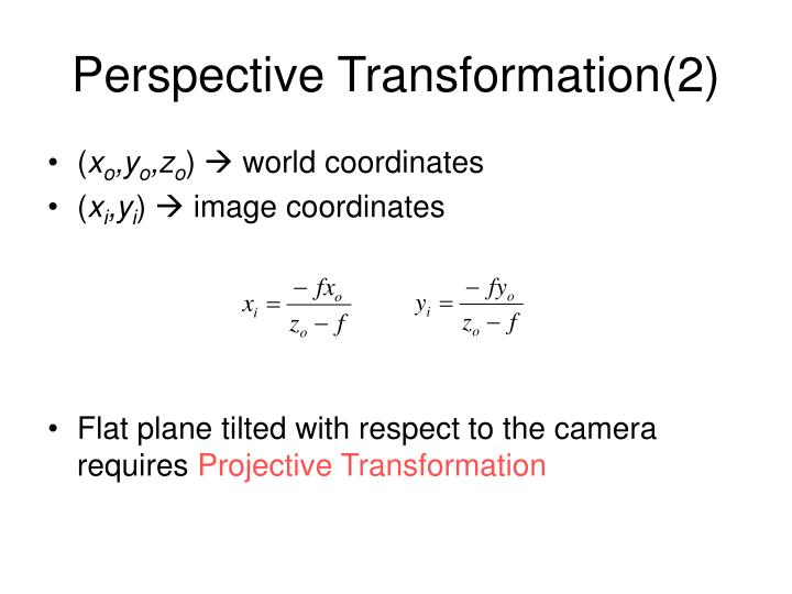 Perspective Transformation(2)
