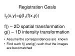 registration goals