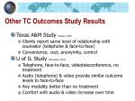 other tc outcomes study results
