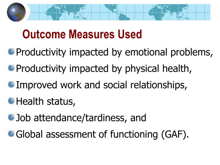 Outcome Measures Used