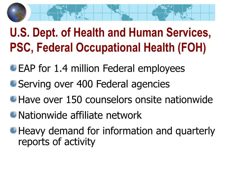 U.S. Dept. of Health and Human Services, PSC, Federal Occupational Health (FOH)