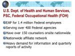 u s dept of health and human services psc federal occupational health foh