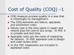 cost of quality coq 1