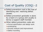 cost of quality coq 2