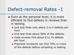 defect removal rates 1