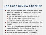 the code review checklist