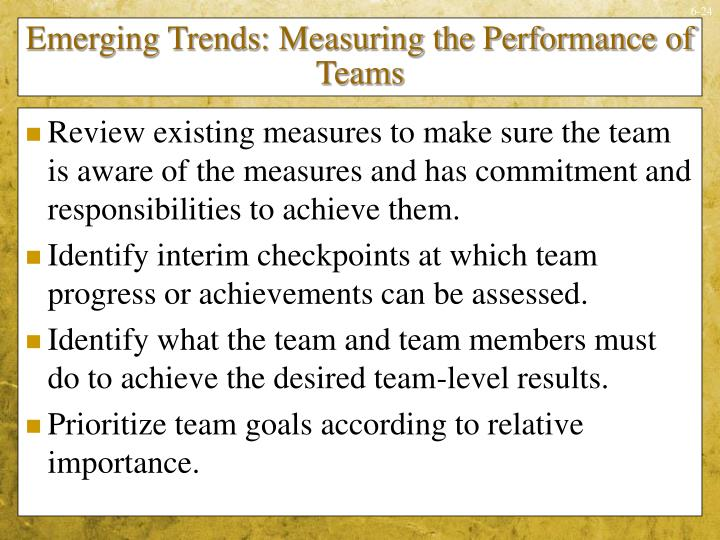 Emerging Trends: Measuring the Performance of Teams