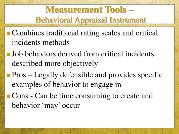 Measurement Tools –