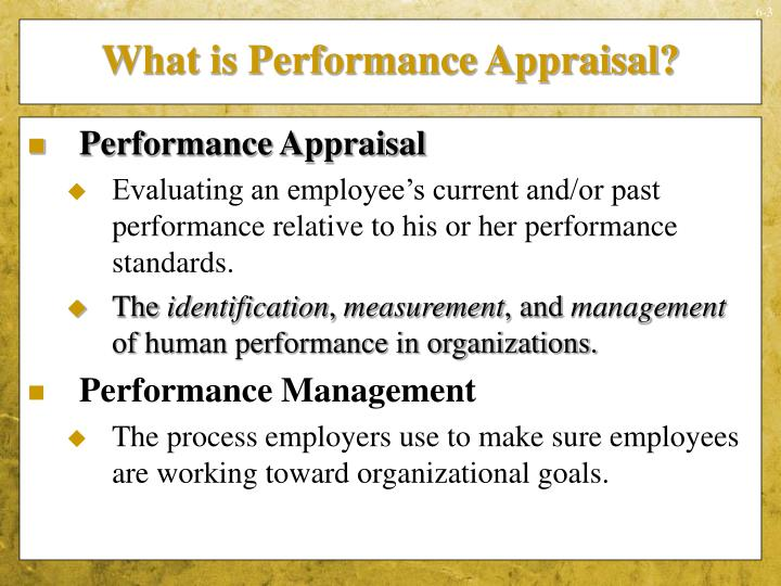 What is Performance Appraisal?