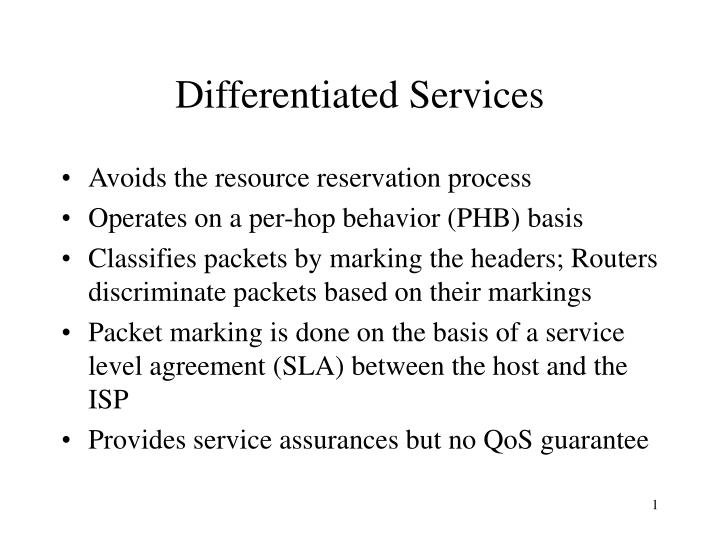 Differentiated Services