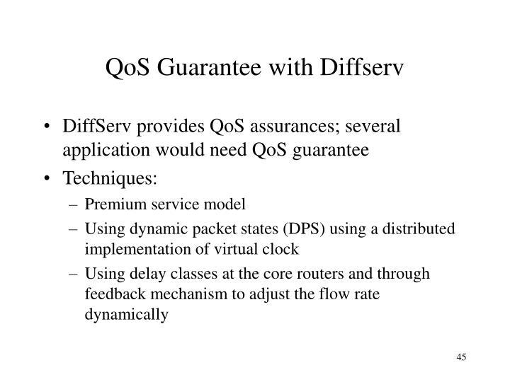 QoS Guarantee with Diffserv